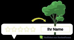 Baum pflanzen für jede Bewertung